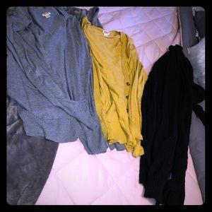 Bundle of 3 cardigans